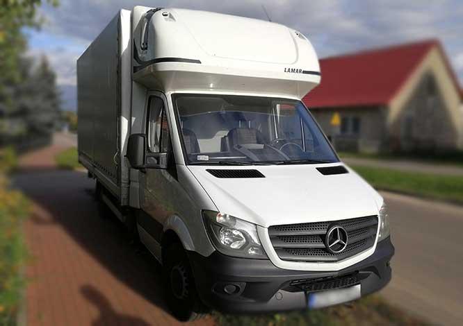 Genialny Wynajem auta - Mercedes-Benz Sprinter Plandeka w cenie od 170zł za FO13